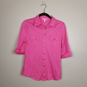 Lilly Pulitzer button down 100% cotton top, size M